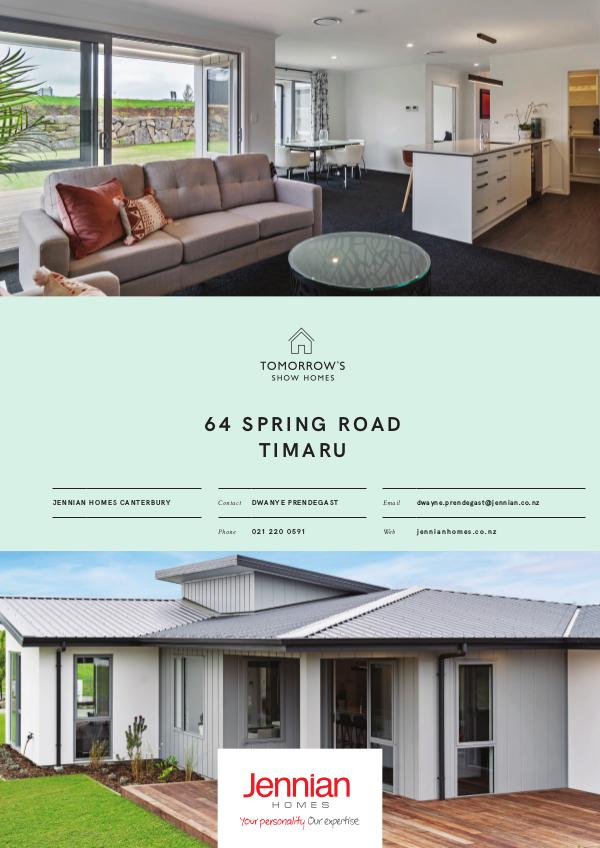 Tomorrow's Show Homes 64 Spring Road, TIMARU