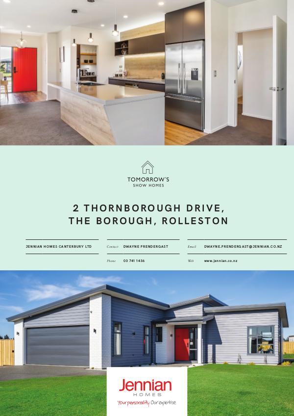 2 Thornborough Drive, The Borough, ROLLESTON