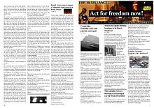 Act for freedom now! Printout Number One