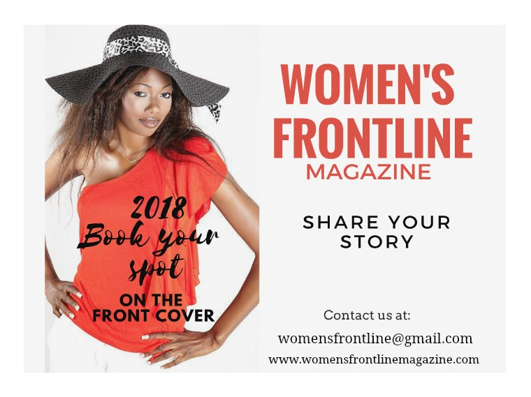 WOMEN'S FRONTLINE MAGAZINE ISSUE Front Cover 2018
