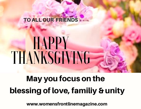 WOMEN'S FRONTLINE MAGAZINE ISSUE thanksgiving