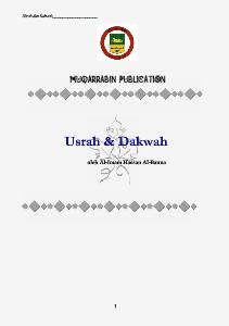 MUQARRABIN USRAH & DAKWAH