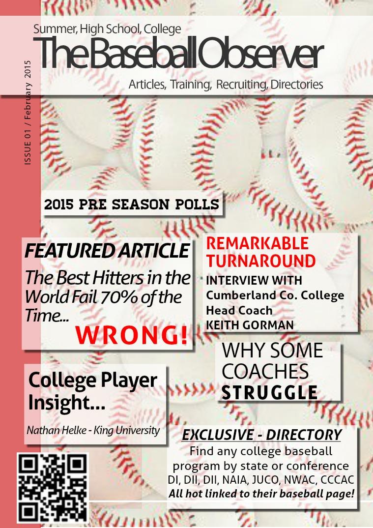 The Baseball Observer Feb 2015 vol 1
