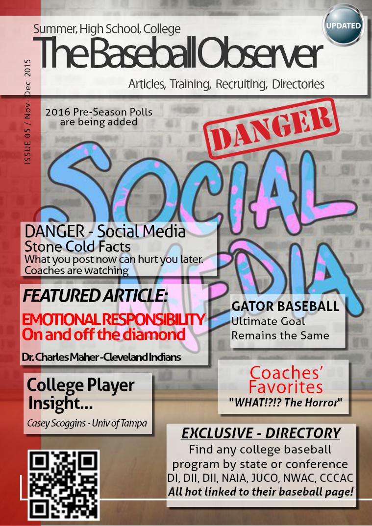 The Baseball Observer Nov-Dec 2015 vol 5