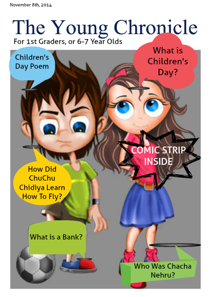 The Young Chronicle: For 1st Graders November 8th, 2014