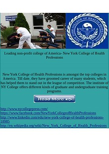 New York College of Health Professions Holistic healthcare