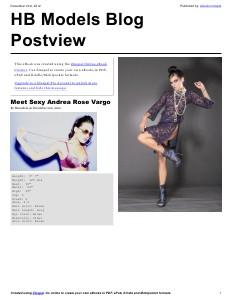 HB Models Management Blog 1