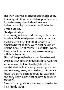 Irish Immigration  1