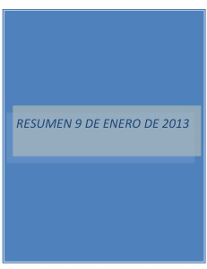 RESUMEN 9 DE ENERO DE 2013 2013-9-ENE