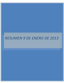 RESUMEN 9 DE ENERO DE 2013