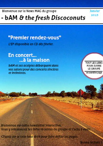 Newsletter - bAM & the fresh discoconuts Janvier 2013