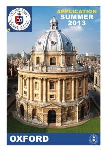 Oxford Summer School 2013 Summer 2013