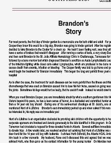 Brandons Story