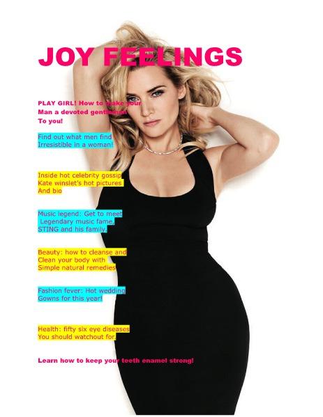 JOY FEELINGS MAGAZINE July issue