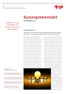 Synergiekontakt 2013 TIP Synergiekontakt September 2013