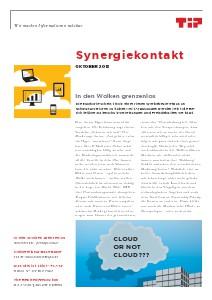 Synergiekontakt 2013 Synergiekontakt Oktober 2013