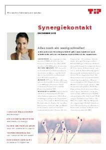 Synergiekontakt 2013 Synergiekontakt Dezember 2013