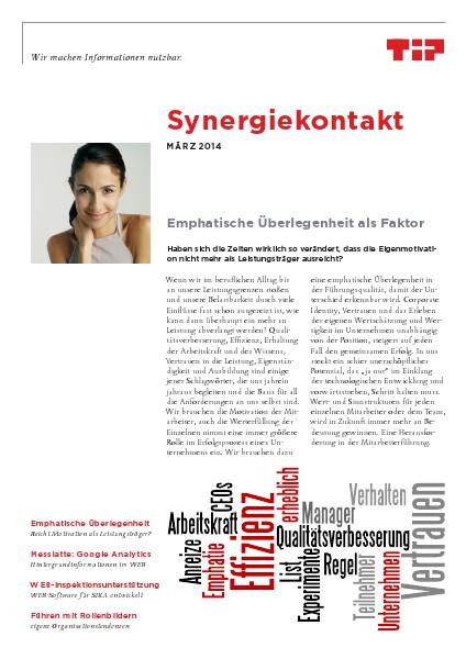 Synergiekontakt 2014 Synergiekontakt März 2014
