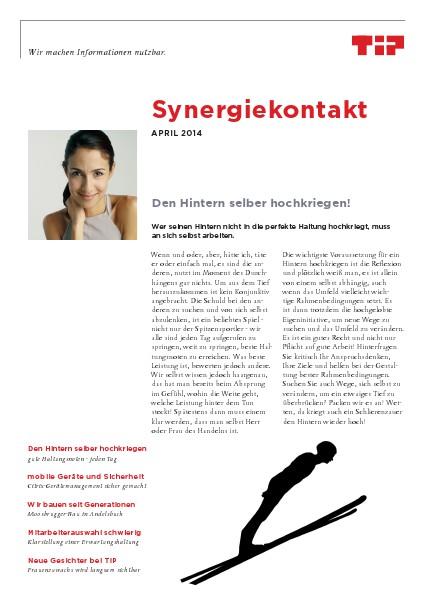 Synergiekontakt 2014 Synergiekontakt April 2014