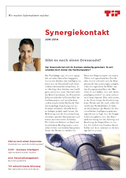 Synergiekontakt 2014 Synergiekontakt Juni 2014