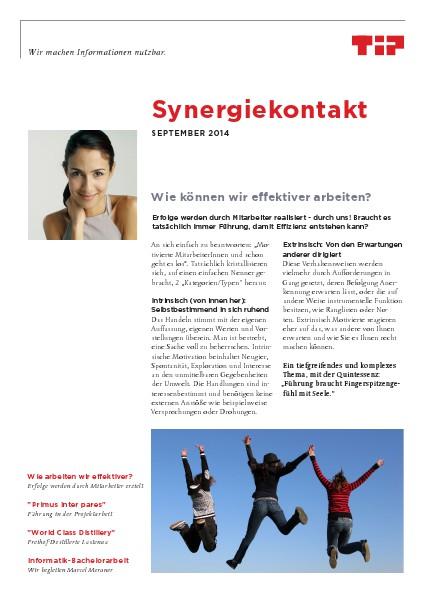 Synergiekontakt September 2014