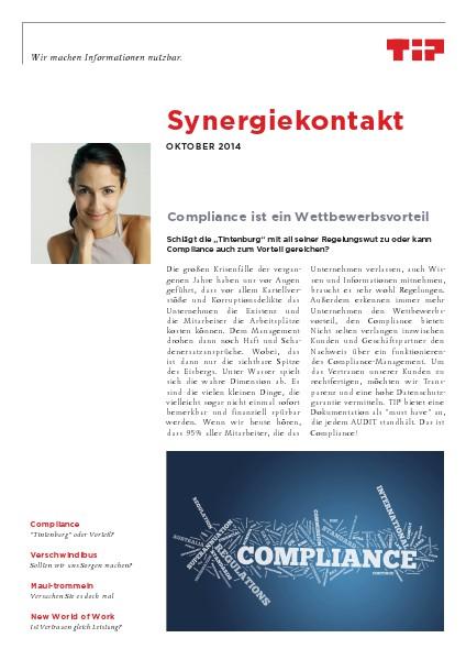 Synergiekontakt Oktober 2014