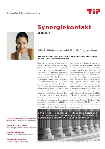 Synergiekontakt 2015 Synergiekontakt April