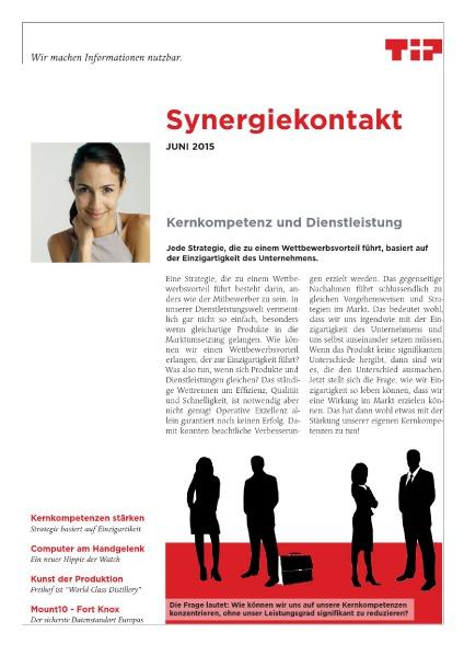 Synergiekontakt 2015 Synergiekontakt Juni