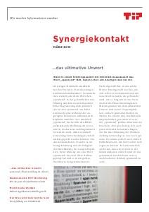 Synergiekontakt 2013 TIP Synergiekontakt März 2013