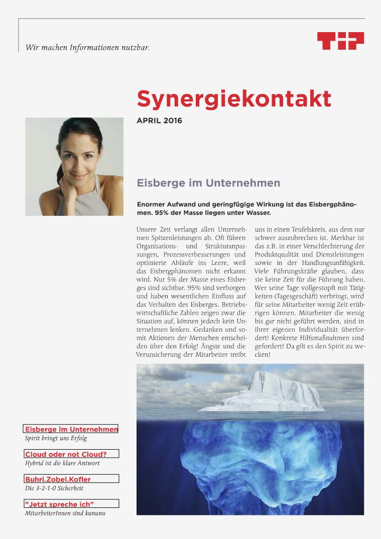 Synergiekontakt April 2016