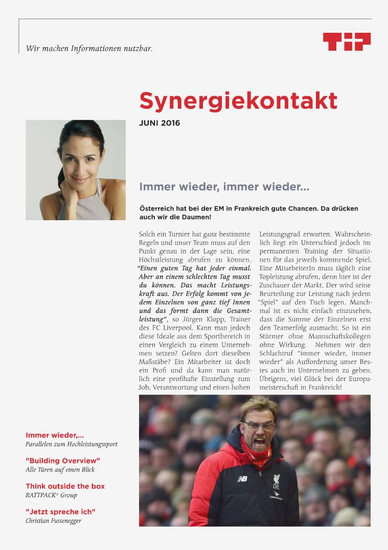 Synergiekontakte 2016 Synergiekontakt Juni 2016