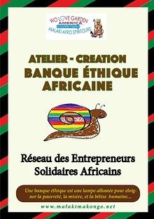 Kit STAGE pour la CREATION d'une BANQUE ÉTHIQUE  AFRICAINE