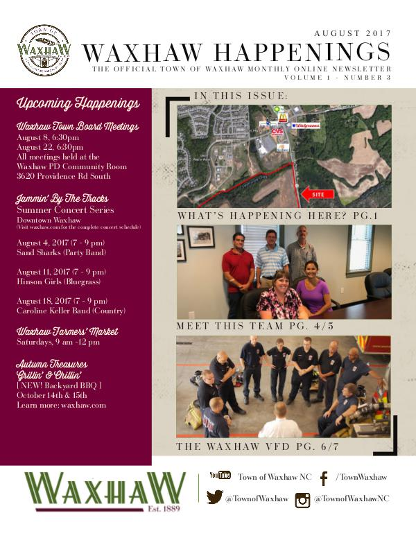 Waxhaw Happenings August 2017 Issue