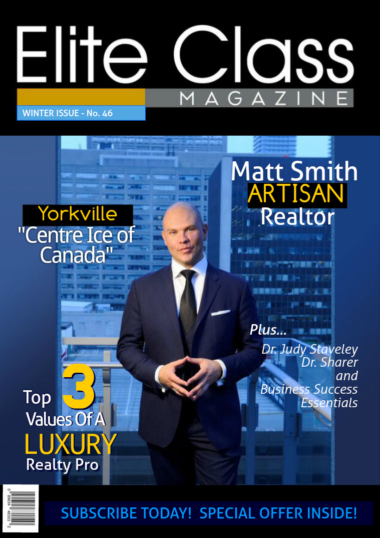 Elite Class Magazine Matt Smith Luxury Real Estate Toronto Canada
