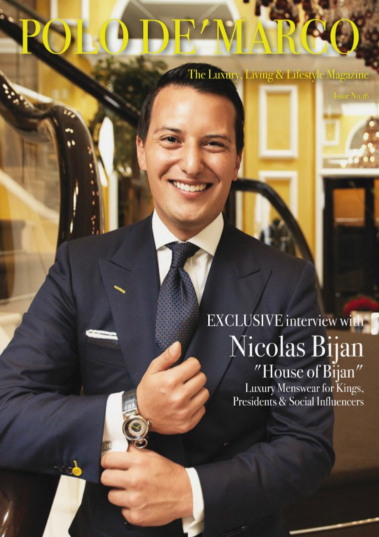 Issue No.16 - Polo De'Marco Magazine Nicholas Bijan 'House of Bijan'