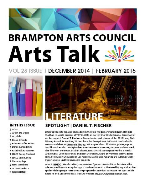 Brampton Art Council | ARTS TALK VOL 28  ISSUE 1