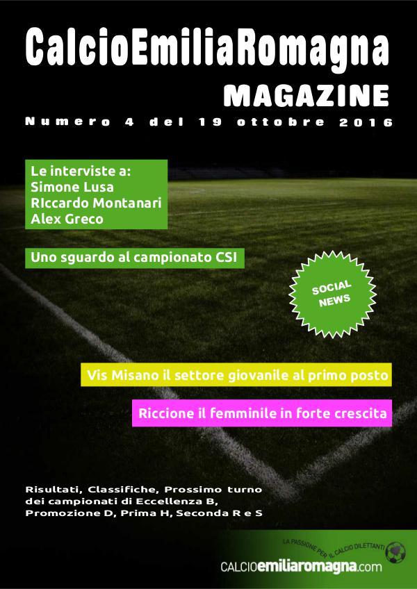 CalcioEmiliaRomagna Magazine Numero 4