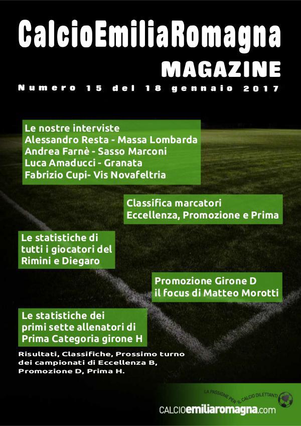 CalcioEmiliaRomagna Magazine Numero 15