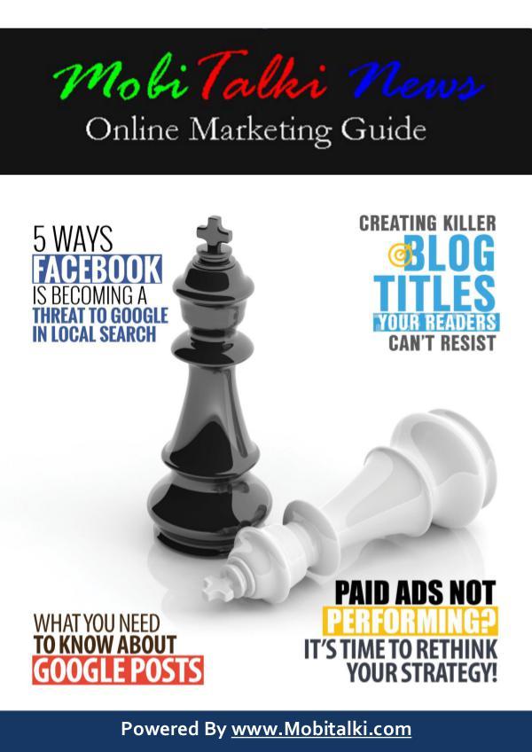 Mobitalki News: Your Online Marketing Guide MobiTalki News Magazine Issue#1