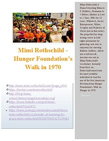 Mimi Rothschild - Hunger Foundation's Walk in 1970