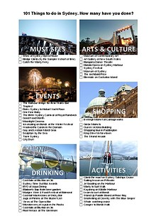 101 Things to do in Sydney