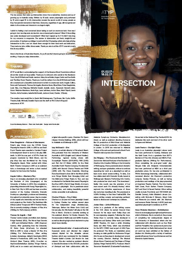 Intersection Program