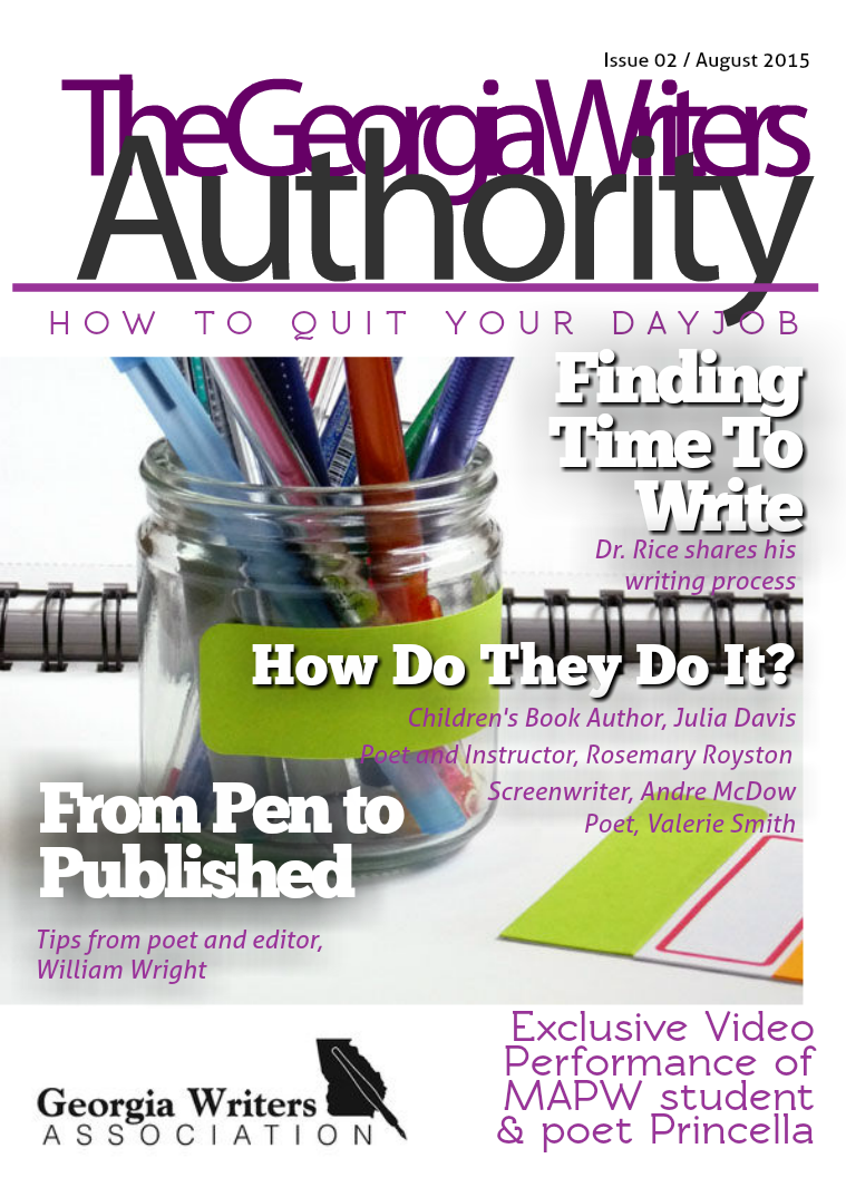 Georgia Writers Authority August 2015