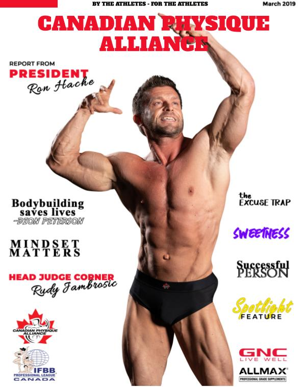 CANADIAN PHYSIQUE ALLIANCE March Issue