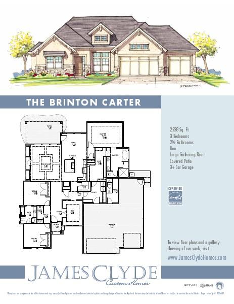 James Clyde Homes Floor Plans Brinton Carter