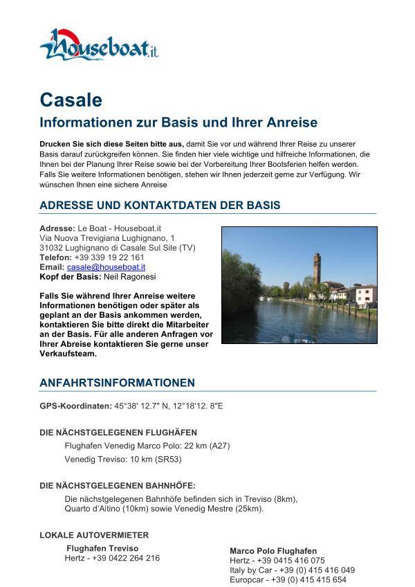 Basis Casale sul Sile German Version