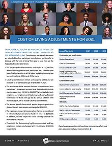 Benefit Insights | Cost of Living Adjustments