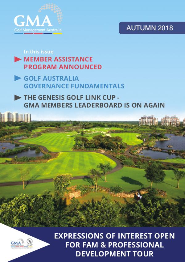 Golf Management Australia Autumn 2018