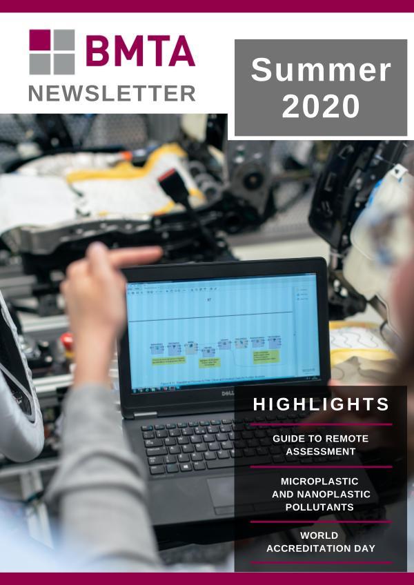 BMTA Newsletter BMTA Newsletter - Summer 2020