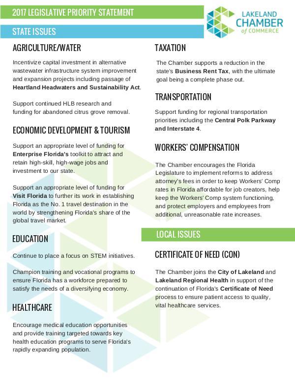 Public Affairs Documents 2017 Legislative Agenda